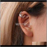 Stud Boho Vintage Clip For Women Sier Gold Color Geometric Crown Heart Shapes Ear Cuff Chain Earrings Fashion Jewelry Drop Delivery 2021 Eau