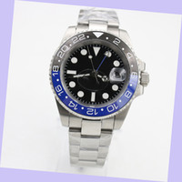 Venta caliente Hombres de alta calidad 3866 Movimiento automático 116710 GMT Batman Cerámica Sapphire Negro Dial Master 2 Pulsera Reloj Relojes Hombre Reloj