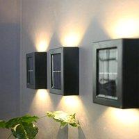 Solar Lamps 2 Pcs set Wall Lamp LED Outdoor Waterproof Lighting Courtyard Park Garden Decoration Street Light Interior Corridor
