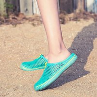 Slippers 2021 Summer Men Hollow Out Breathable Beach Shoes Unisex Casual Slip-on Flats Sandals Flip Flops