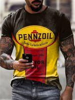 Avantgarde-Stil 3D-gedrucktes T-Shirt T-Shirt Visuelle Aufprallparty-Hemd Punk Gothic Rundhals Hochwertiger amerikanischer Muskel-Stil Kurze Ärmeln