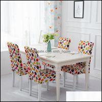 Chair Sashes Textiles Home & Gardenchair Ers Household Half-Packed Dining Chairs Er Half Printed Elastic Beach Silla Gamer Fundas Para Silla