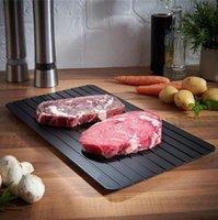 Bandeja de descongelación rápida Cocina de placa de descongelación La forma más segura de descongelar la carne congelada Alimento de metal Mat de aluminio Herramientas de cocina DHC6585