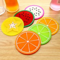 Fruit Shape Cup Pad Creative Colorful Coaster Silicone Slip Insulation Cups Mat Drink Holder Mug Stand Kitchen Bar Table Decoration LLE7541