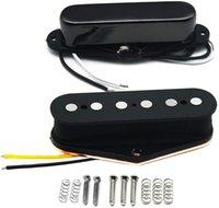 Alnico 5 Guitar Pickups Tele Bridge Pickup w Neck Pickup (Black) Fit Fender Telecaster Pickups Part