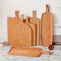 Cocina cuadrada Bloque de corte de madera Tabla de cortar de madera Tarjeta de corte Cake Sushi Placa Sirviendo bandejas Placa de fruta plato de sushi bandeja de filete BWB5655