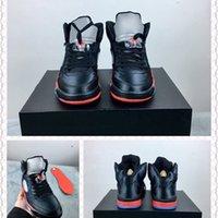 Satin Series 5 Bred Blades Black University Rosso Scarpe da basket per uomo 136027-006 Sneakers sportivi atletici di alta qualità 5S con scatola