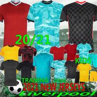 20/21 Tay Mohamed Yeni Futbol Formaları 10 Mané M. Salah 9 Milner Henderson 4 Keita 12 Gomez Adam Çocuk Kitleri Futbol Gömlek Üniformaları