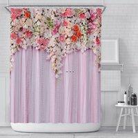 1 шт. Красочный тюльпан роза цветы деревья Душевая занавеска ванная комната шторы природа цветок водонепроницаемый полиейте ткань ванна декор HWF5415