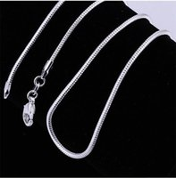 Catena di serpente della catena del serpente della catena del serpente della collana 925 dei monili della collana della collana per le donne 2mm 16 18 20 22 24 pollici 111 T2