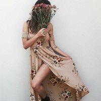 floral NEDEINS Summer 2020 Dress Women Split Sexy Maxi Beach Sundress Off Backless Dress Boho Long Dresses Vestidos Femme