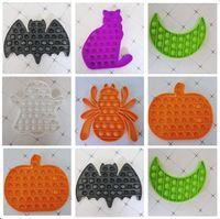 Halloween Theme Bubble Zappeln Spielzeug Ratte Kürbis Spinne Katze Mond Hallowmas Bild Sensorische Push Blasen Finger Puzzle Party Geschenk Kinder