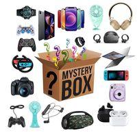 Fête Favoris Box chanceuse - Cadeau de surprise aveugle mystère telle que la ligne USB, contrôleur, casque, fans, montre intelligente pour anniversaire de Noël