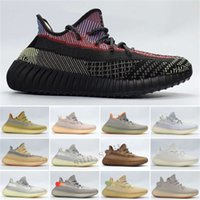 wholesale kanye running shoes for mens womens static black refective earth tail-light zebra men women trainers sports sneakers fastshipping