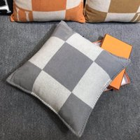 Шерсть H подушка для гостиной диван Ins подушка подушка диван домой роскошный лошадь H подушка подушки 45 * 45см