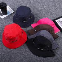 Модные ведро шляпа мужчины женщин унисекс хлопковое ведро шляпу двойной боковой рыбалки буши кустарника крышка козырек завещание солнцем рыбака