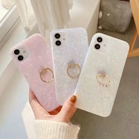 360 Metal Ring Crystal Bling Shell Soft IMD TPU Cases For Iphone 12 Pro Max Mini 11 XS XR X 8 7 Finger Rip Holder Fashion Colorful Sequin Confetti Flake Mobile Phone Cover
