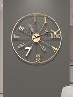 Wall Clocks Home Living Room Decora Luxury Clock Metal Modern Personality Creative Art Decoration Watch El Decorative