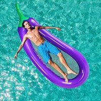 Inflatable Floats & Tubes Summer Swimming Pool Floating Eggplant Mattress Ring Circle Cool Water Party Toy Boia Piscina Child -40