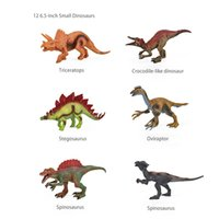 Simulation Dinosaur World Toy Animal Model Tyrannosaurus Scythe Dragon Triceratops Pterosaur Niulong Raptor Plesiosaur Children'S Suit