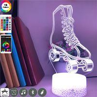 Night Lights Atmosphere LED Light For Kids Babies Roller Skates Image Bedroom Decoration 3D Neon Lamp Gift Nightlight Lava Base