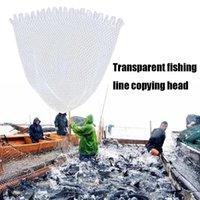 Открытый 40/50/60 см Двойная линия плетеная сетчатая рыбалка посадка чистые рыболовные инструменты сетчатой дыркой