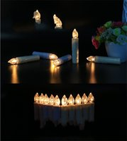 10 adet LED Mum Işık Kliplerle Ev Partisi Düğün Noel Ağacı Dekor Uzaktan Kumandalı Alevsiz Akülü Noel Mumlar Işık 743 K2