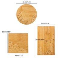 Натуральная древесина круглая квадратная чашка коврик бамбуковая ремешка смола искусство ремесел эпоксидной смолы
