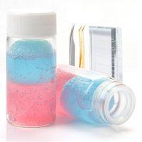 Pinzetta per ciglia Cleaner Liquid Beauty Beauty Tweezers Pinzette speciali con pulitore di strumenti per ciglia spugna Rimuovere rapidamente la colla