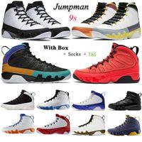Changer le World Mens Basketball Chaussures Jumpman 9 Jorden Jordens 9s Université Bleu Gold Gold Gym Space Rouge Sport Entraîneurs Sneakers 40-46