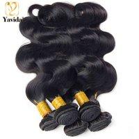Yavida Malaysian Natural Soft Body Wave Human Hair Weave Bundles For Black Women Bulk Wholesale