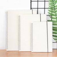 Notepads A6 A5 B5 B5 Notebooks Büroschule Studenten Spiralnotizbücher mit transparenter Abdeckung leere gepunktete Gitterlinie für Journal