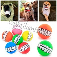 DHL Free Funny Mascotas Perro Puppy Cat Ball Dientes Juguete PVC Mask Sonido Perros Play Fetching Squeak Toys Pet Supplies Puppy Ball Dientes Dientes Silicon Juguete
