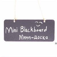 Colgante Mini pizarra de madera Pizarra de doble cara Borreable WordPad Sign Sign Black Board Cafe Office Suplementos de escuela HWE7081