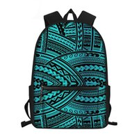 School Bags Canvas Fashion Polynesian Traditional Tribal Pattern Waterproof Schoolbag Bookbag Students Large Satchel