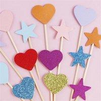 Другие мероприятия Party поставляет цветные звезды звезды девочки дети дня рождения торт топпер карты любовное платье десерт кекс свадьбы год флаг