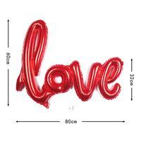 40 Inch LOVE Letter Balloon Anniversary Wedding Valentines Birthday Party Decoration Aluminum Film Champagne Romantic Decor BWE7408