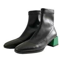 Stivali YCSCL Color Bump Black and Green Show Avanzato Slide-in Designsquare Design root dimagrante