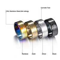 cross for men's jewelry Masonic ring Titanium steel gift 6mm