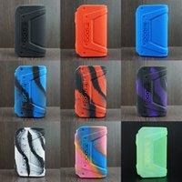 Skyddande silikon texturväska för Geekvape L200 (Aegis Legend 2 kit) 200W MOD VAPE Skin Sleeve Cover Retail Package 9 färger
