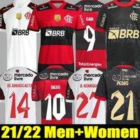Фламенго футболки 2021/22 Диего E.Ribeiro Gabriel B. Gabi футболки Matheuzinho Gerson Pedro de arraScaeta Jersey мужчина женщин Camisa Mengo