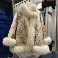 Kadın Kürk Faux 2021 Huai Cape'in Son derece iyi Fortune Kıyafet Tırnak Boncuk'u Kimin İthalat Ceket