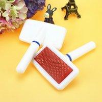 Красный щенок щетка для волос Cat Dog Grooming Pet Gilling Brush Soft Smicker Bom для собак Быстрый чистый инструмент Pet Cepillo Perro 77