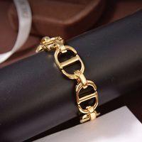 D Família Gold CD letra feminina 2021 New Dijia líquido vermelho pequeno bracelete de indústria pesada