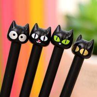 Cute Kawaii Black Cat Gel Pen Cartoon Plastic Gel Pens For Writing Office School Supplies Korean Stationery