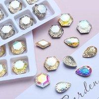네일 아트 장식 육각형 워터 드롭 장식 모조 다이아몬드 고품질 크리스탈 유리 패션 3D 손톱 DIY 액세서리