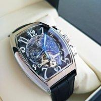 Frank- Muller - лучший бренд роскошные мужские часы FM Tourbillon AutomateQuartz часы мужчины водонепроницаемый бизнес механический наручные часы C0227