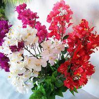 Декоративные цветы венки 90 см 70 заголовки искусственные бугинвиллии букет для свадебного фестиваля дома сад симуляция поддельных сливов цветок