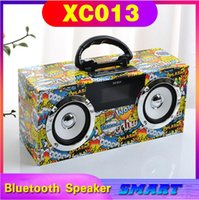 2021 NUEVO XC013 Caja de doble altavoz clásico Caja de madera Altavoz Bluetooth Al aire libre Portátil Portátil Portátil Subwoofer Audio Soporte creativo