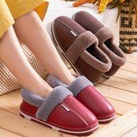 20 Yeni Stil erkek Sonbahar Ve Kış Çantası Topuk Peluş Ayakkabı Kalıcı kadın Ev Ahşap Zemin Severler Eğlence Pamuk Terlik Deri